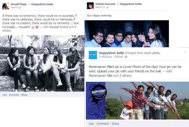 happydent facebook