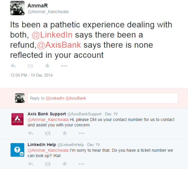 axis bank , linkedin